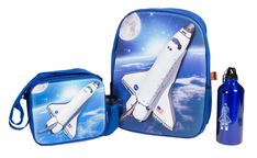 Let your imagination zoom with this NASA Space Shuttle 3D Backpack Set, a superb way to show your space tech. Not only do you get a 3D backpack, but it also comes with an aluminum water bottle and lunch sack! The details and lift on the backpack and lunch sack are sure to keep any kid happy for hours. Find more great back to school ideas at ComputerGear.com