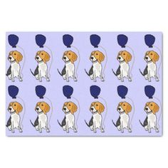 Funny Beagle Dog Birthday Tissue Paper #beagles #dogs #birthday #pets #tissuepaper #funny And www.zazzle.com/petspower*