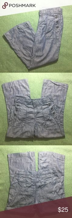 """Gap Women's Jeans 100% Tencel Denim Size 2 EUC Excellent used condition, no noted flaws. Women's size 2. Two side seam pockets with buttons. Two back pockets (these were sealed with stitching, pockets are not damaged and you may remove stitching to reopen them). Zip fly with top double hook and inner button. 100% Tencel Lyocell (very light, fresh and comfy). Machine wash.   Approx. laying flat measurements: 15"""" waist, 9"""" rise, 28"""" inseam, 36.5"""" long.   Remember to bundle up and save more, so…"""