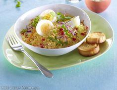 Vejce s kuskusem Eggs, Breakfast, Health, Food, Fitness, Bulgur, Morning Coffee, Health Care, Essen