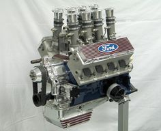 Based in England, the Weslake racing and aircraft engine company built many famous racing engines, although little is known about this Ford Y-block V8, which features aluminum Weslake heads and a racing designed fuel injection system.