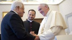 Pope Francis meets Mahmoud Abbas - video | World news | The Guardian
