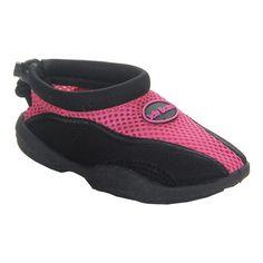 a2c486f24993 Girls  Jelly Beans Mesh Water Shoe - Fuchsia Black Water Shoes