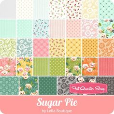 Sugar Pie MINI Charm Pack Lella Boutique for Moda Fabrics - Sugar Pie - Moda Fabrics | Fat Quarter Shop