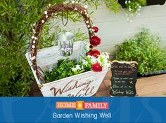 Garden Wishing Well - decorate your front yard, entryway or garden with a beautiful DIY from @paigehemmis! Catch Home and Family weekdays at 10/9c on Hallmark Channel!