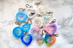 Making Resin Keychains, Aesthetic Backpack, Lavender Aesthetic, How To Make Clay, Cute Keychain, Resin Charms, Sticker Shop, Resin Art, Editorial