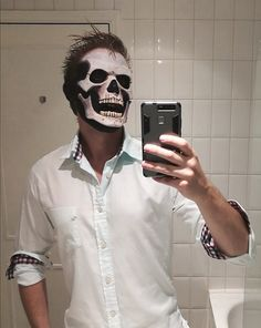 Ghost Knight Head Hood Costume Black Open Eye Mask Dungeon Halloween Cosplay