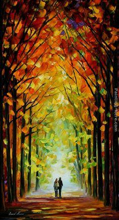 Leonid Afremov ALTAR OF TREES Painting