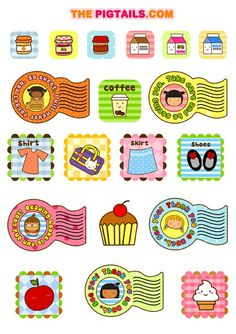 Pigtails free printable stickers www.thepigtails.com