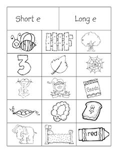 We've been working through these sorts to distinguish between short and long vowels.   We use a large piece of manila paper to create the...