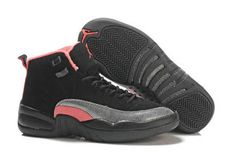 Women Nike Jordan 12 Retro(gs) Black/Sirenred Pink - Basketball Shoes