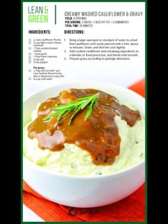 Creamy Mashed Cauliflower and Gravy