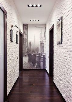 icu ~ Pin on Poster Frames ~ Sep Hallway colours - white walls charcoal grey door frames & light grey doors Flur Design, Plafond Design, Hallway Decorating, Entryway Decor, Interior Decorating, Bedroom Decor, Entrance Decor, Wall Decor, Wall Art