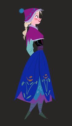横から見たアナ : 【アナと雪の女王】公式の2Dイラストが可愛い!ディズニーが製作したオシャレなタッチの絵【画像】 - NAVER まとめ