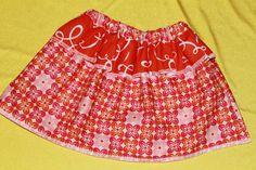 Seamingly Smitten: Sewing TUTORIAL: Peplum Waist skirt for girls