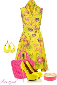 """""""Yellow Dress And Kate Spade"""" by sherryvl on Polyvore"""