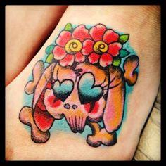 #bunny #rabbit #skull #tattoo #reikotattoo