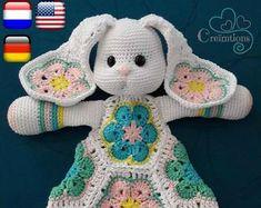 Haakpatroon Knuffel-Fant | Etsy Zou, Lovey Blanket, Totoro, Crochet Baby, Craft Supplies, Diy And Crafts, Etsy, Super Cute, Kawaii