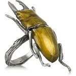 Philippa Holland Oxidized sterling silver beetle ring