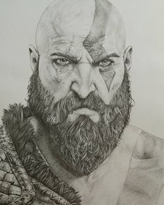 Secrets Of Drawing Most Realistic Pencil Portraits - - 28 Collection of Kratos Drawing 2018 Secrets Of Drawing Realistic Pencil Portraits - Discover The Secrets Of Drawing Realistic Pencil Portraits Kratos God Of War, Drawing Superheroes, Marvel Drawings, Pencil Art Drawings, Art Drawings Sketches, Character Design Animation, Character Art, Guerrero Tattoo, Human Sketch