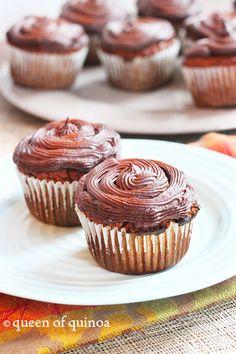 Grain-Free Pumpkin Cupcakes | Gluten-Free | Queen of Quinoa
