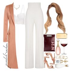 A fashion look from January 2017 featuring red coat, high rise pants and alaia shoes. Browse and shop related looks. Glamouröse Outfits, Kpop Fashion Outfits, Cute Casual Outfits, Simple Outfits, Polyvore Outfits, Stylish Outfits, Polyvore Fashion, Looks Chic, Everyday Outfits
