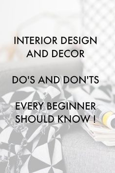 Awesome tips! The Beginner's Guide to Interior Design and Decorating! Novice designers and decorators will find helpful advice and ideas here!