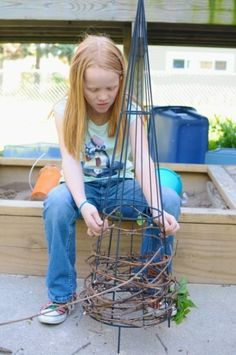 weaving a trellis...show g these examples of installation art and let her weave a trellis for the hideaway!