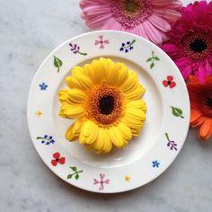 Wild Flowers plate by Hannah Berridge