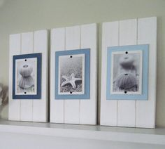 Set of Three 5x7 White Plank Frames by ProjectCottage on Etsy