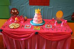 Princess Peach from Super Mario Brothers birthday party by Chica and Jo, via Flickr
