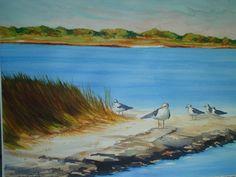 Birds on a Bar - Watercolor