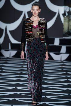 Diane von Furstenberg Fall 2014 Ready-to-Wear Fashion Show - Karen Elson