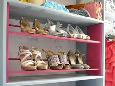 How to Make a Shoe Rack >> http://www.hgtv.com/decorating-basics/how-to-build-a-shoe-rack-for-your-closet/index.html?soc=pinterest