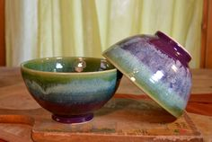 Bowl ceramic serving stoneware cereal bowl glazed por hughespottery