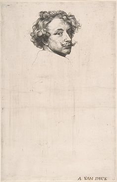 Self-Portrait, from The Iconography. Artist: Anthony van Dyck (Flemish, Antwerp,  1599–1641 London). Date: ca. 1630. Medium: Etching; first state of seven.
