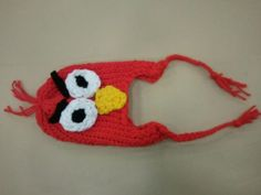 Loom Knitted Angry Bird hat