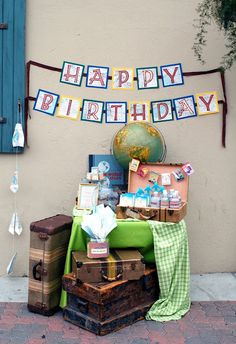 Vintage Travel Themed Birthday