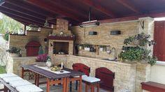 Backyard Plan, Backyard Patio, Outdoor Rooms, Outdoor Dining, Outdoor Decor, Outdoor Kitchen Design, Patio Design, Outdoor Cooking Area, Pergola