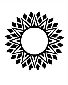 aztec star line art - Google Search