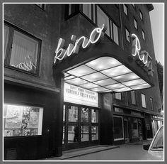 Kino Ritz , Eteläinen Hesperiankatu,  Helsinki History Of Finland, Helsinki, The Past, Neon Signs, Times, Design, Historia