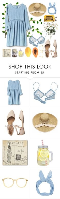 """PANCAKE"" by ftrees ❤ liked on Polyvore featuring Branché, La Perla, Gap, Trademark Fine Art, Black Apple, American Apparel and FRUIT"