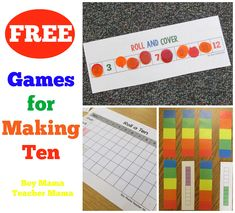 FREE Games for Making Ten I have been busily creating games to help my students practice making tens which is so important for all other math concepts. Students need to make tens for counting money…