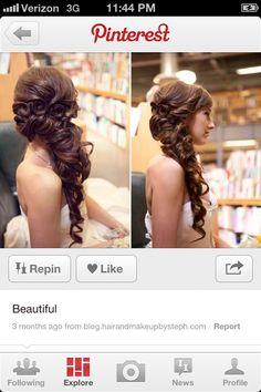 Haiiiiiiir wedding hair idea