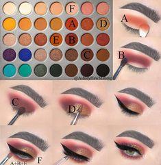 Read more about eye makeup looks - Makeup Looks Orange Colourpop Eyeshadow Palette, Jaclyn Hill Eyeshadow Palette, Makeup Morphe, Makeup Palette, Skin Makeup, Colourpop Cosmetics, Makeup Eye Looks, Eye Makeup Steps, Beautiful Eye Makeup