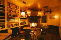 Black Mountain Wine House is a very cozy wine bar (with a fireplace) in Gowanus. Wine Bar Nyc, Beer Bar, Wine Bars, Brandy Library, Aspen Lodge, Cozy Bar, Basket Lighting, Wine House, Nyc Life