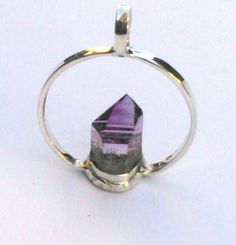 Amethyst Crystal Pendant set in 925 by EnchantedCrystalDsgn Pendant Set, Crystal Pendant, Amethyst Crystal, Crystal Healing, Natural Stress Relievers, Crystal Design, Enchanted, Gifts For Her, Gems