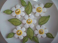 happy flower cookies