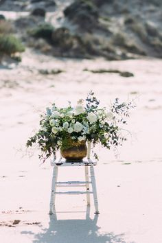 Bohemian Beach Wedding Ideas from our own styled shoot on Polka Dot Bride. Floretta by Grace is a superstar!