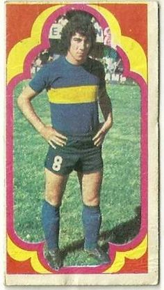 figurita futbol jugadores año 1975 - benitez - boca juniors